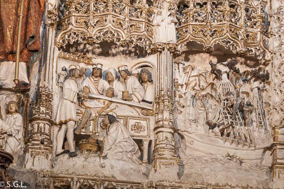Detalle retablo iglesia san Nicolas de Burgos