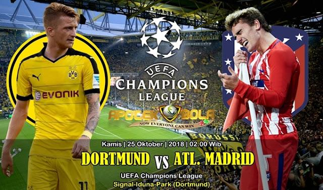 Prediksi Borussia Dortmund vs Atletico Madrid 25 Oktober 2018
