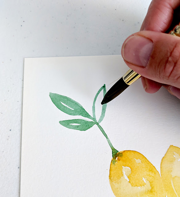 Paint Lemons and Leaves