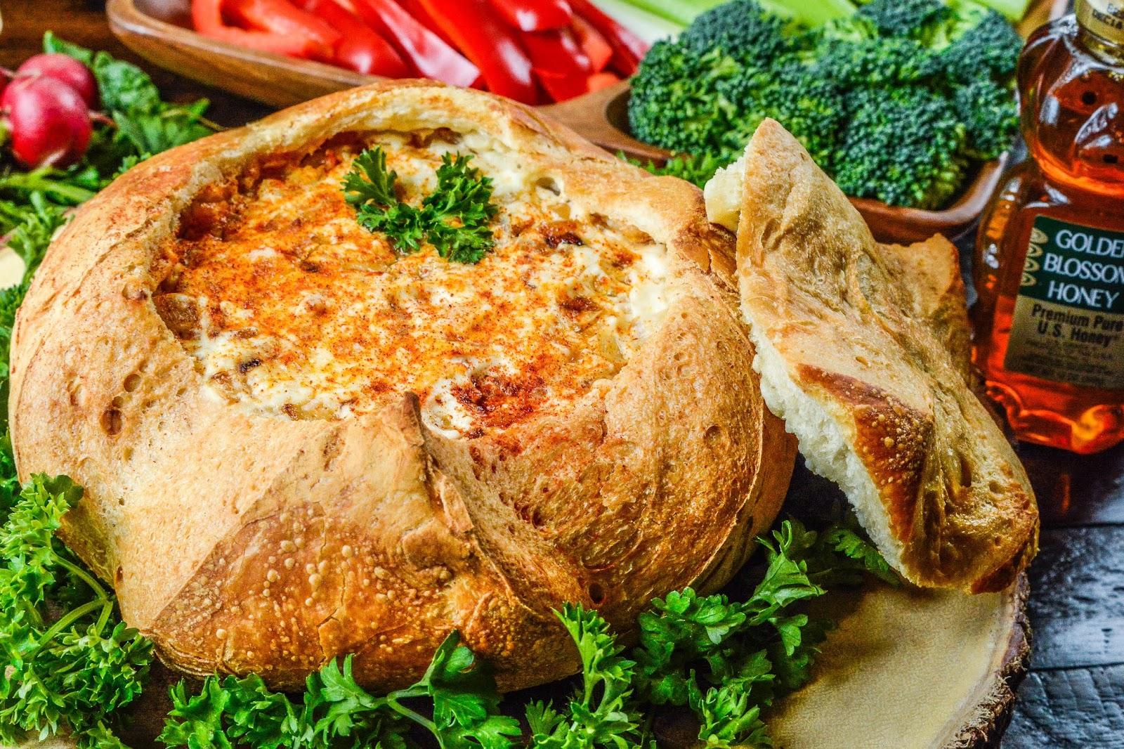 Baked Brie in Sourdough Bread