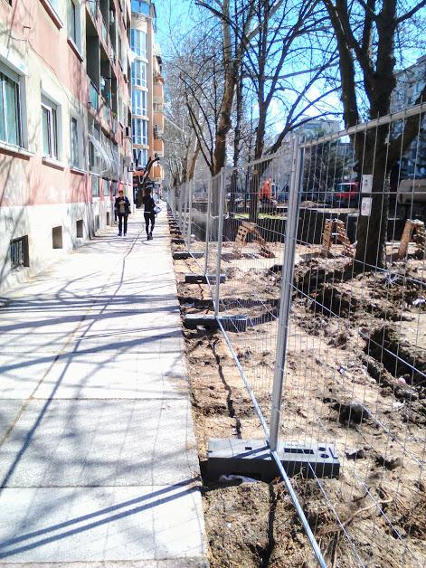 Renovating, Pedestrians, Never Ending, Fencing, Yambol,