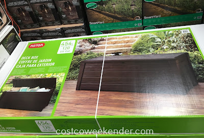 Keep patio cushions and outdoor pillows looking new while storing them in the Keter Resin Deck Box