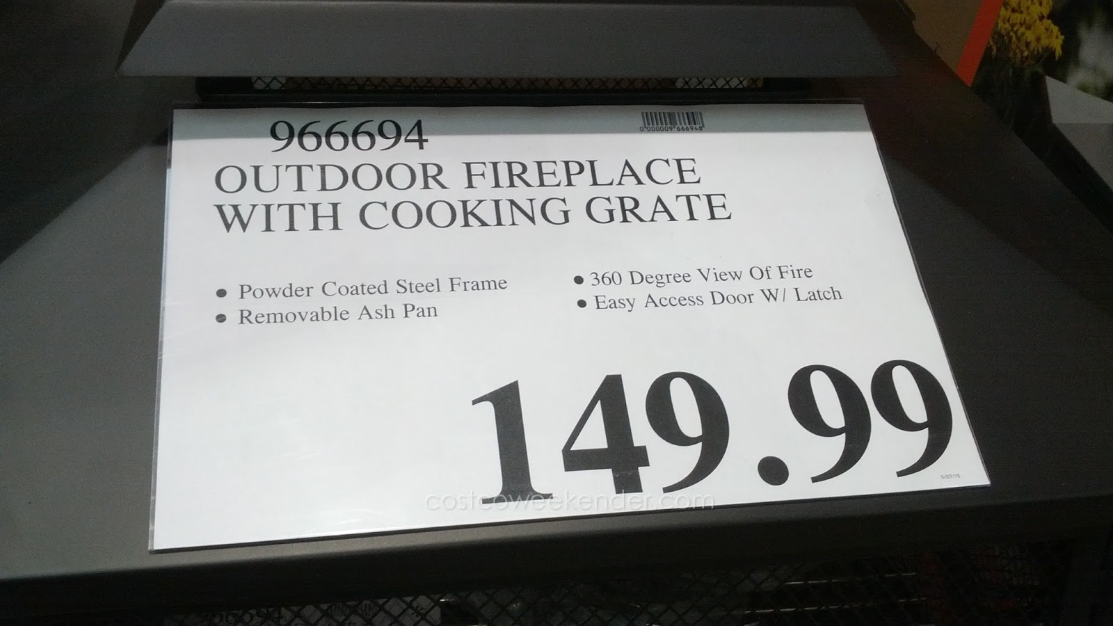 Inside Outside Garden Outdoor Fireplace with Cooking Grate ... on Costco Outdoor Fireplace  id=57762