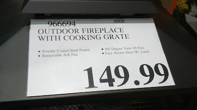 Inside Outside Garden Outdoor Fireplace with Cooking Grate ... on Costco Outdoor Fireplace id=47380