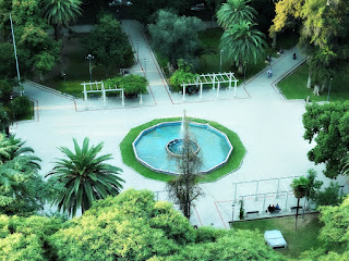 Plaza Italia Vista do Terraço do Hotel Amérian, Mendoza