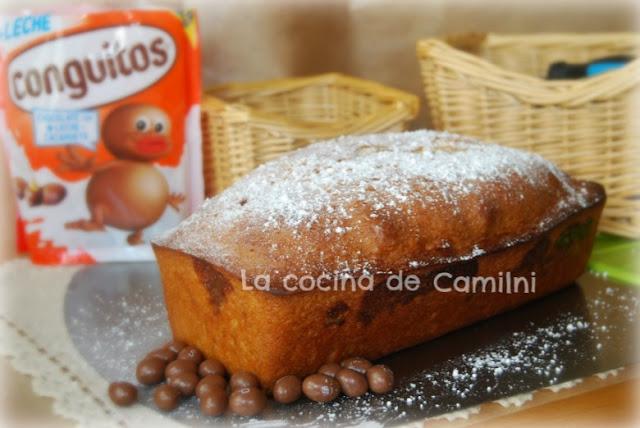 Bizcocho con conguitos (La cocina de Camilni)