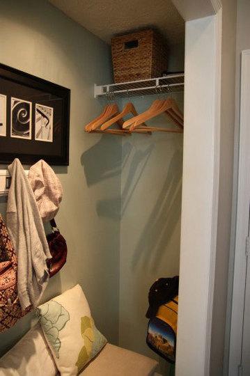Storage Glee Closet Turned Mini Mudroom