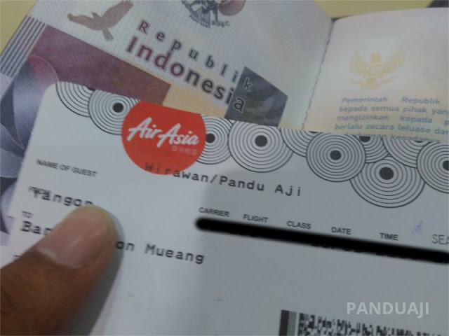 Boarding Pass Air Asia di Yangon
