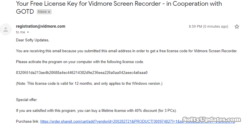Giveaway: Vidmore Screen Recorder For 12 Months