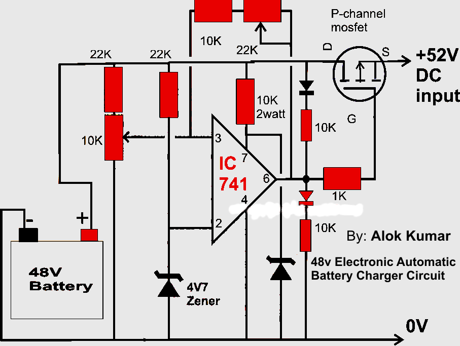 electronic circuits transformerless power supply led drivers rh electronicpowersupply blogspot com 48v battery bank wiring diagram 48v battery charger circuit diagram