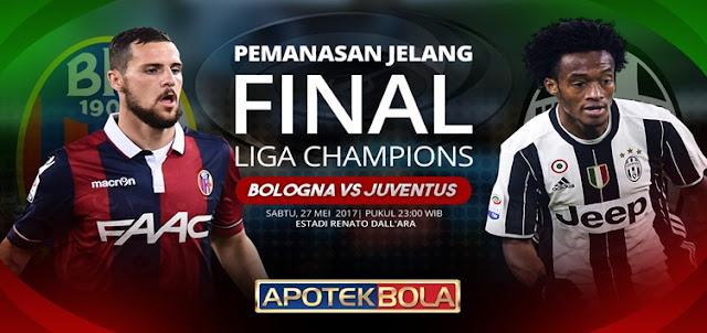 Prediksi Pertandingan Bologna vs Juventus 27 Mei 2017