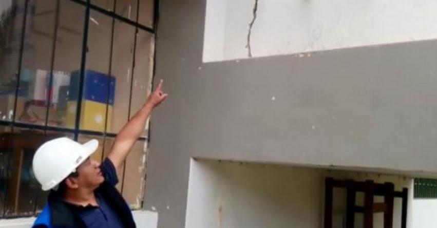 Dos colegios de Huancayo - Junín, presentan daños por sismo en Huancavelica