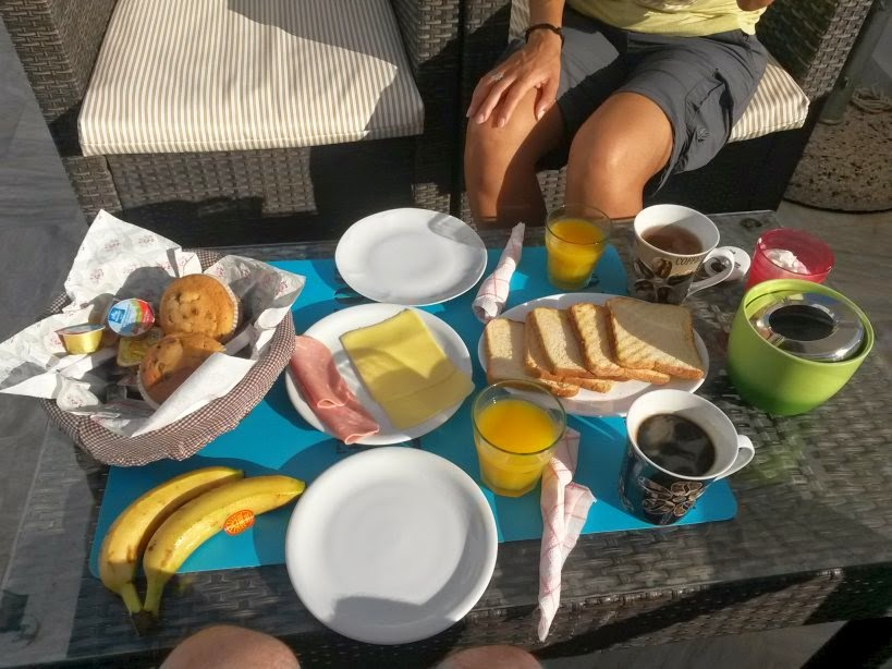 Breakfast in Afrodete Hotel in Santorini
