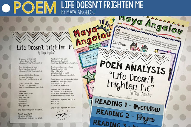 "Poetry Lesson Maya Angelou ""Life Doesn't Frighten Me"""