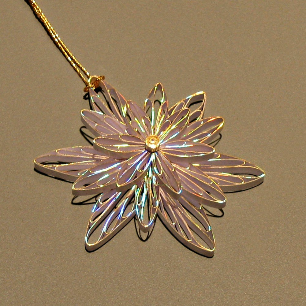 Quilled Snowflake or Flower Ornament