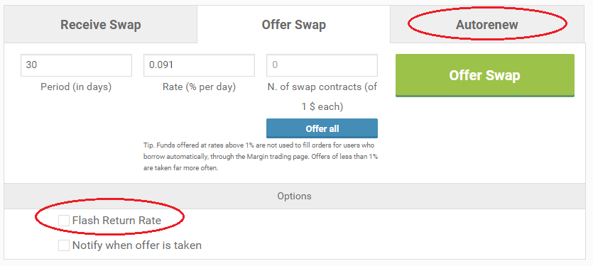 bitcoin bitfinex swap offer parameters биткоин кредит торговля