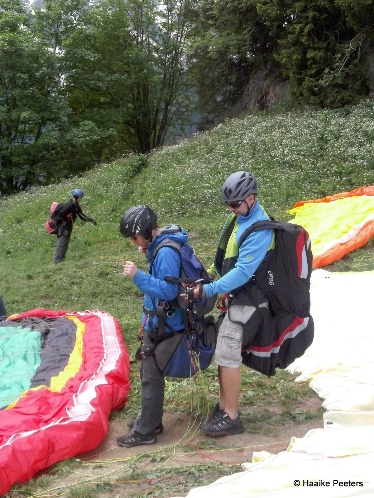 Paragliding Mürren (Le petit requin)