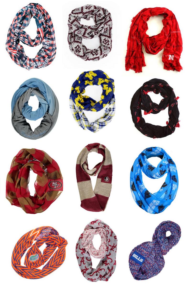 sports team ncaa nfl infinity scarf