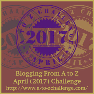 #AtoZChallenge 2017 badge