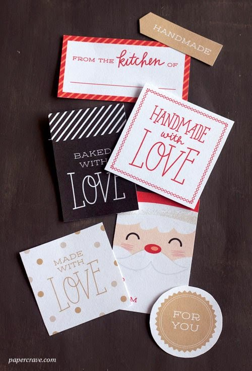 best of homemade gift ideals including free printable labels and