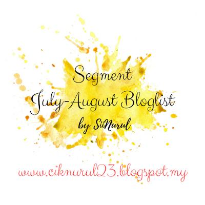 Segment July-August Bloglist By Sii Nurul