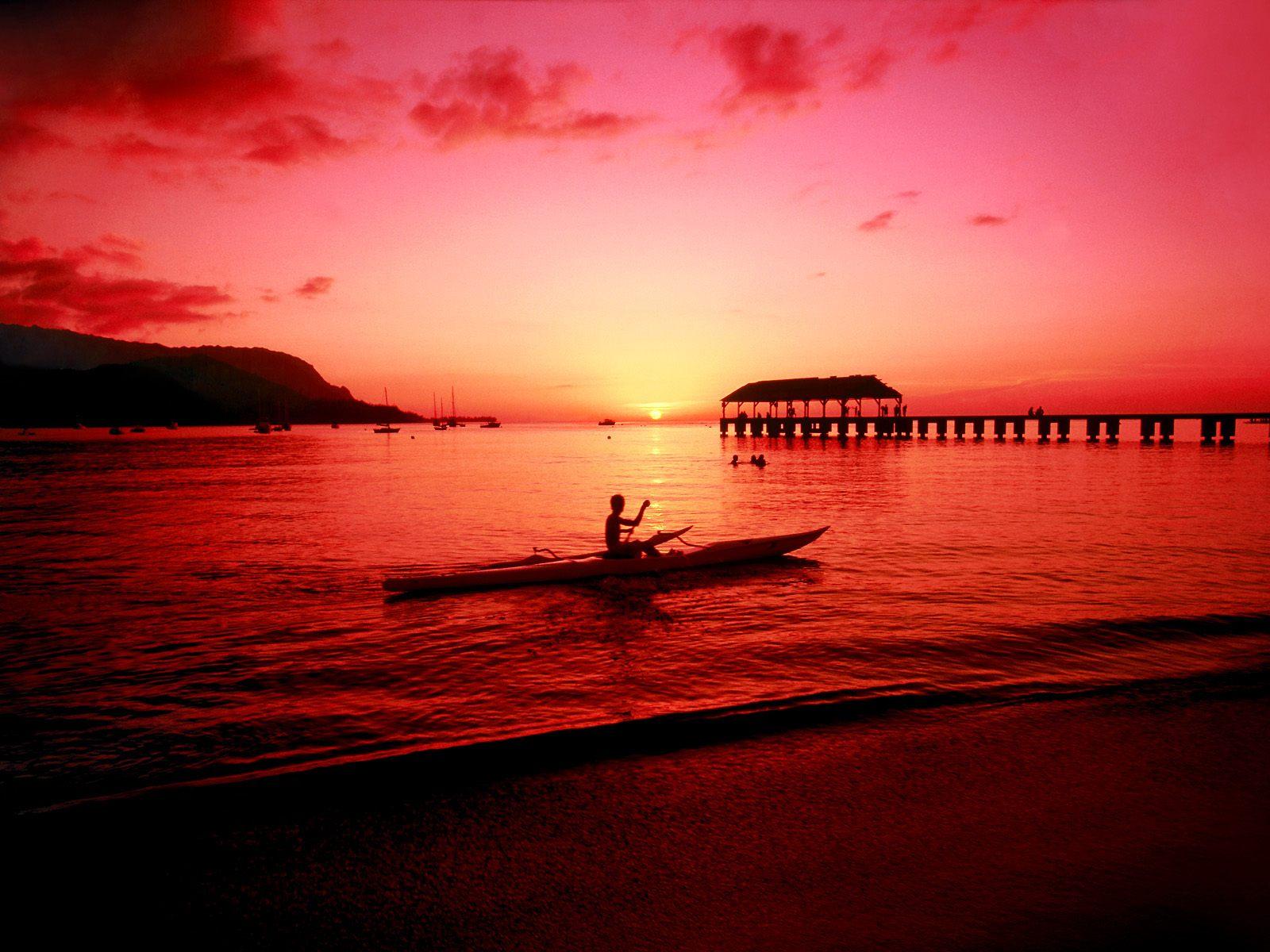 Hd Tropical Island Beach Paradise Wallpapers And Backgrounds: Wallpaper: Tropical Island Sunset Wallpaper