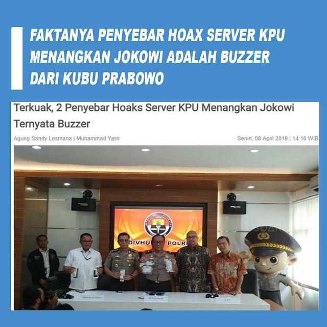 Terkuak, 2 Penyebar Hoaks Server KPU Menangkan Jokowi Ternyata Buzzer