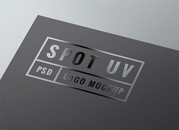 Download Logo Mockup PSD Terbaru Gratis - Spot UV Logo Mockup