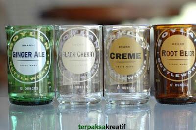 Cara Mudah & Kreatif Membuat Gelas Cantik dari Botol Bekas dari Dapur