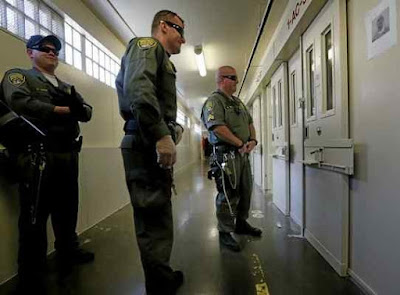 San Quentin Prison death row guards