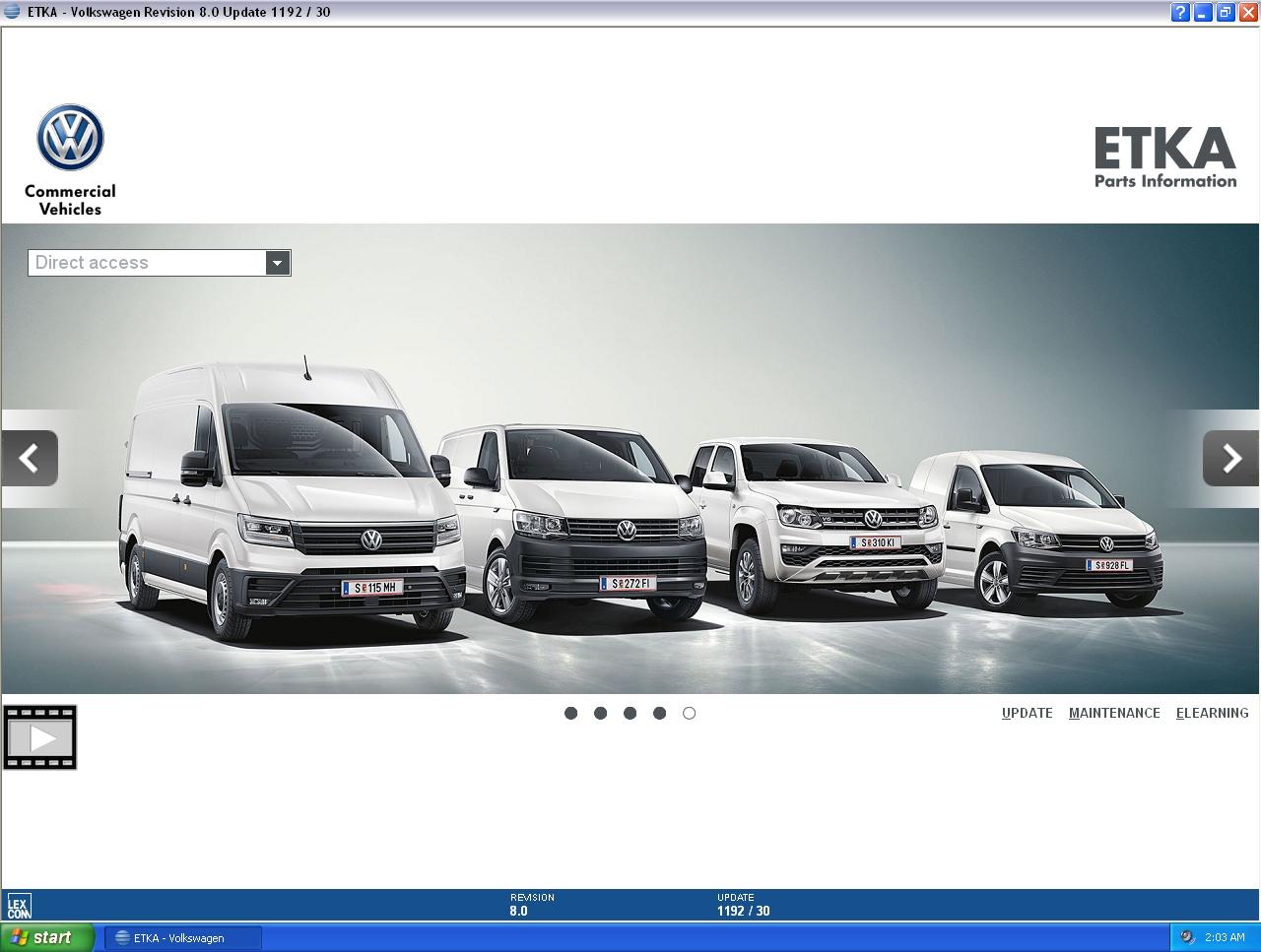 ETKA 8 1 - AUDI, VW, SEAT, SKODA [05 2019] Parts Catalog