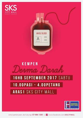 Kempen Derma Darah di SKS City Mall Bandar Penawar