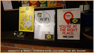 ZZZ Hotel menawarkan free wifi, sebahagian dari Nida Hotel yang boleh di download app mereka.