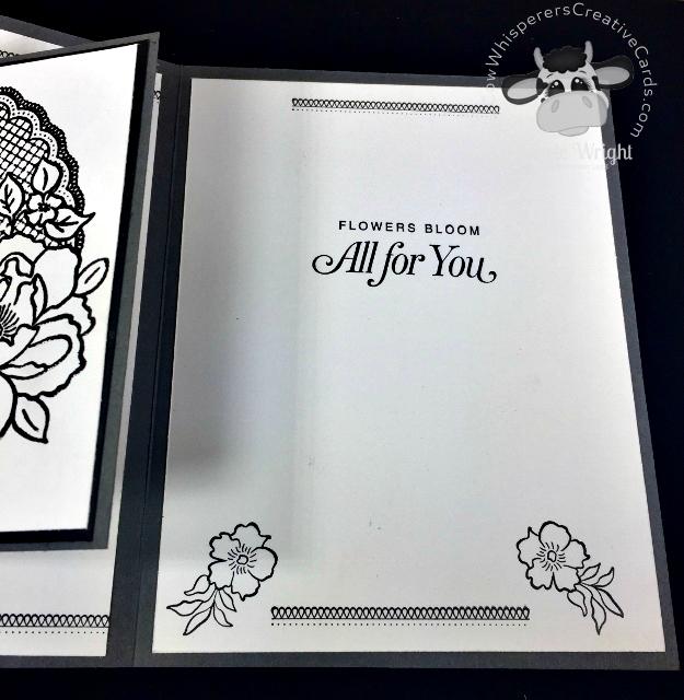 Card, Lovely Lattice, Black Foil, Fancy Fold, Heat Embossed