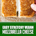Easy Stretcchy Vegan Mozzarella Cheese #vegan #vegancheese