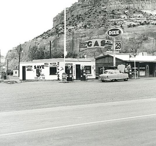 Foto antigua de la Ruta 66