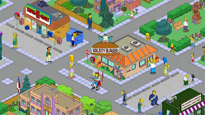Tampilan Game The Simpsons Tapped Out