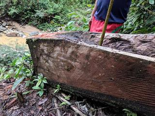 dugout canoe in el Oriente, Ecuador