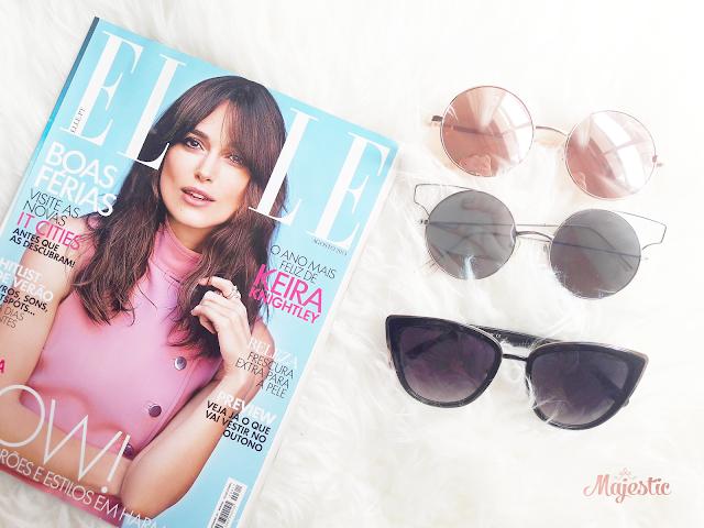 ELLE Portugal e óculos de sol da Primark, Pull & Bear e Zara