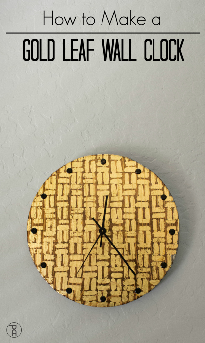 simple easy wood diy walnut gold leaf tribal wall clock kit  how to
