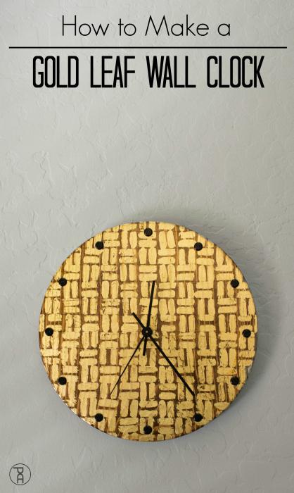 simple easy wood diy walnut gold leaf tribal wall clock kit  how to