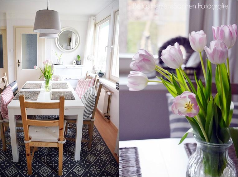 Interieur, Blogger, Esszimmer, rosa, Blumen