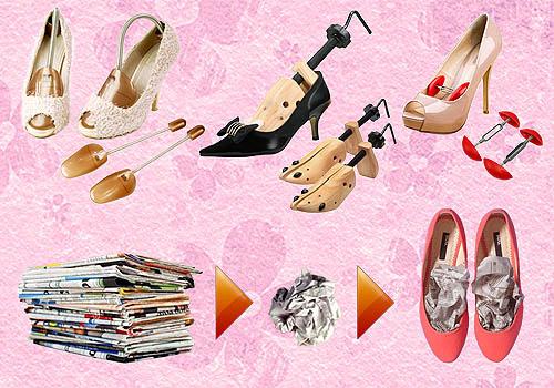 Cara menyimpan sepatu dengan shoe tree