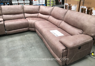 Furnish your home with the comfortable Fabric Power Reclining Sectional