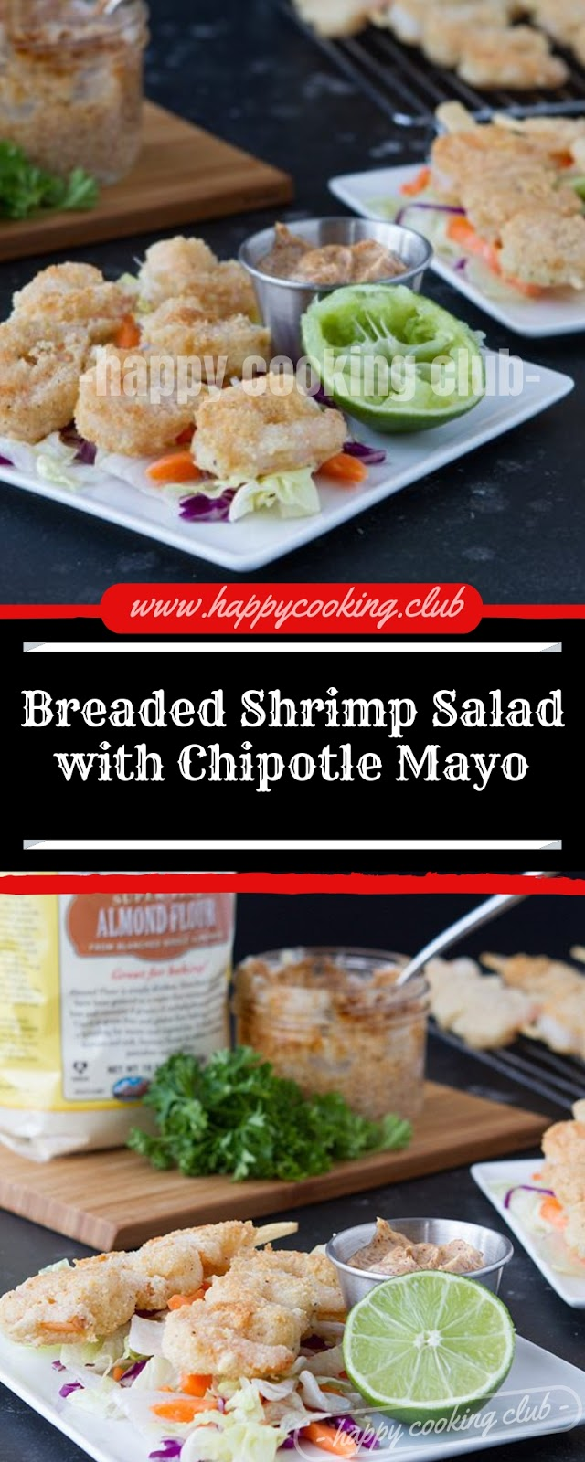 Breaded Shrimp Salad with Chipotle Mayo