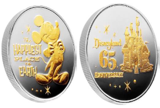Disneyland Park 65th Anniversary Commemorative Limited Edition Coin