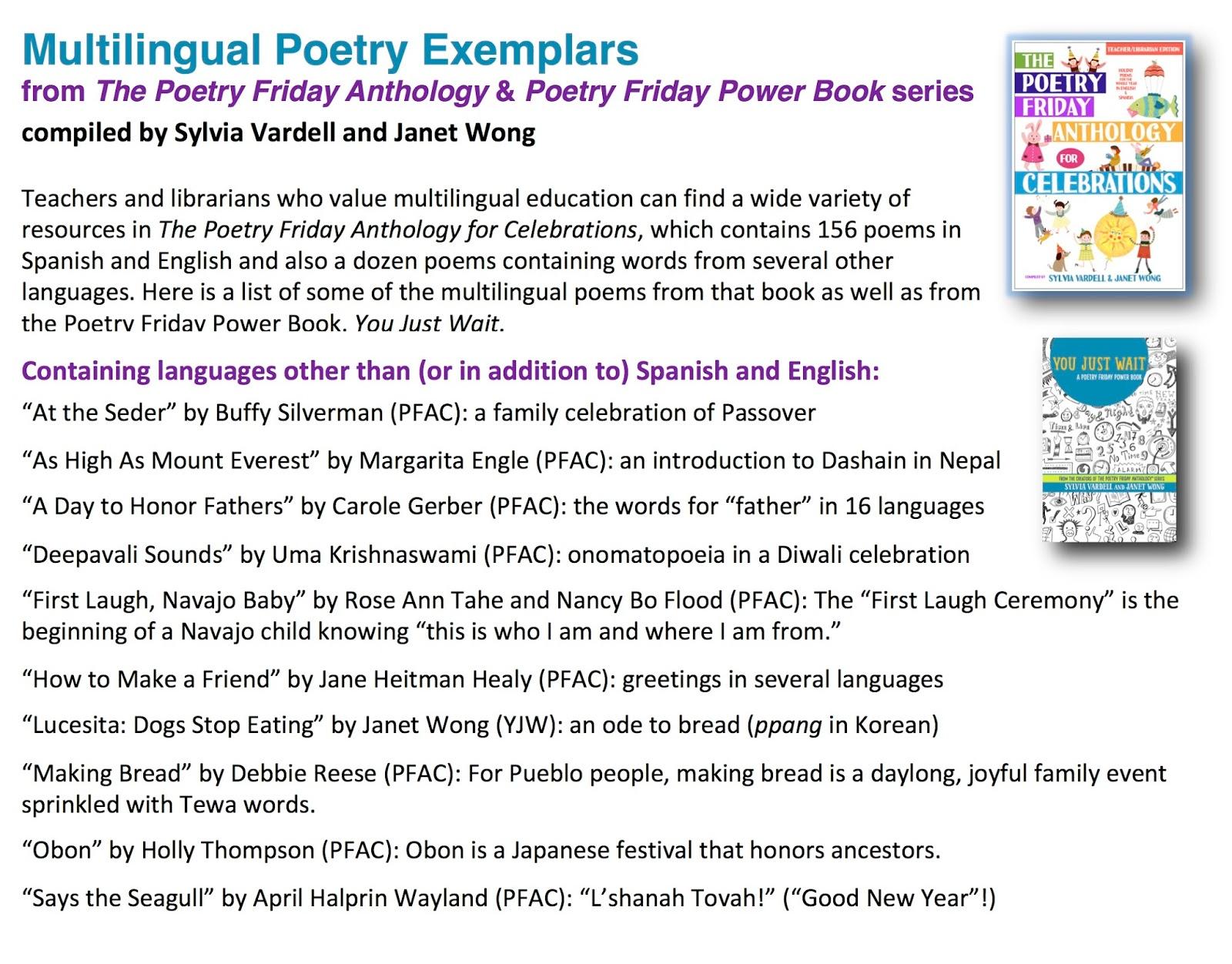 Poetry For Children 2017