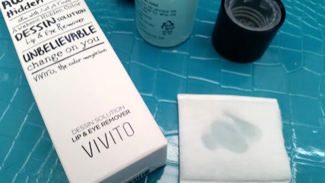 Vivito lip & eye remover soaked on pad