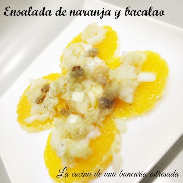 Receta de ensalada de naranja y bacalao