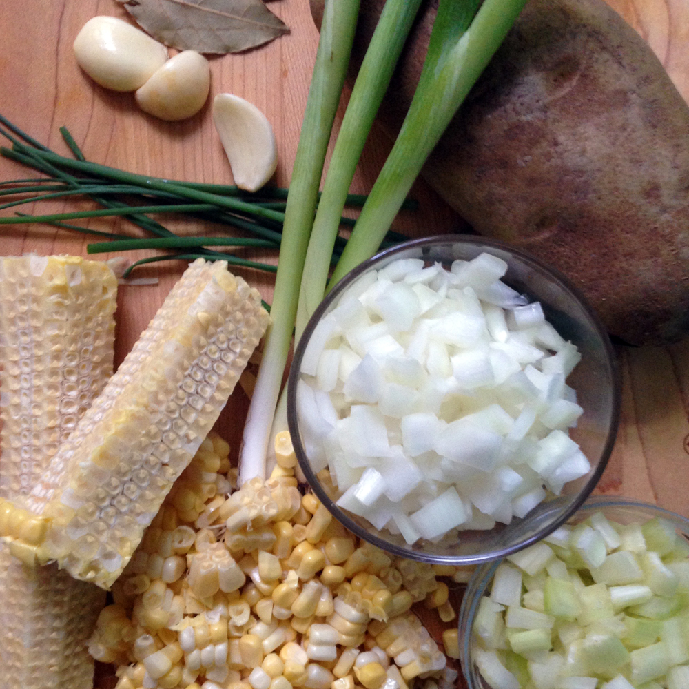 Fresh corn straight off the cob is the number one ingredient of Corn Chowder.